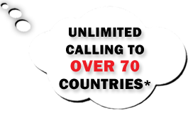 unlimited calling to over 70 countries with global plan